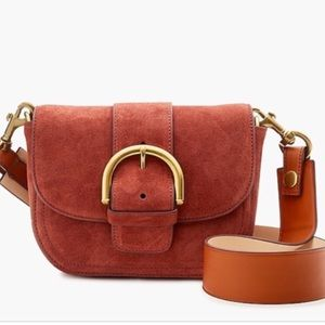 J. Crew Crossbody Buckle Bag Italian Leather